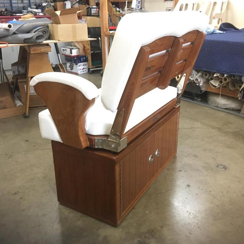 Teak Double Wide Helm Chair