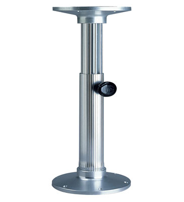 Aluminum Gas Rise Table Pedestal  2 7/8""