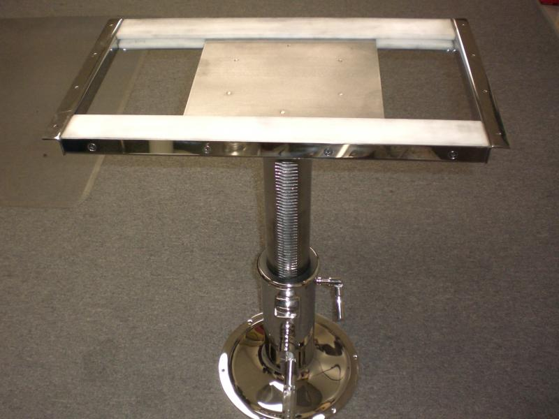 stainless steel table pedestal